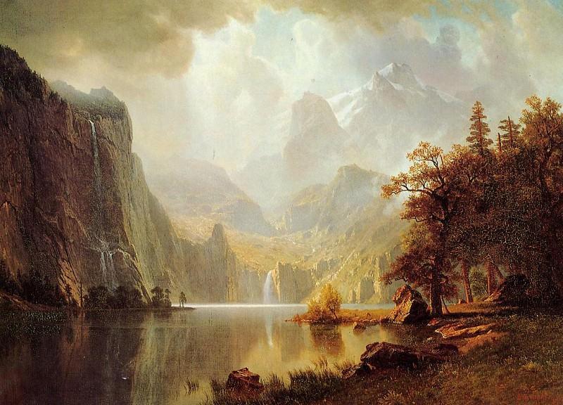 In the Mountains. Albert Bierstadt