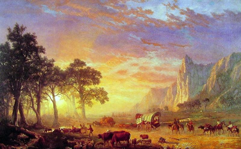 The Oregon Trail. Albert Bierstadt