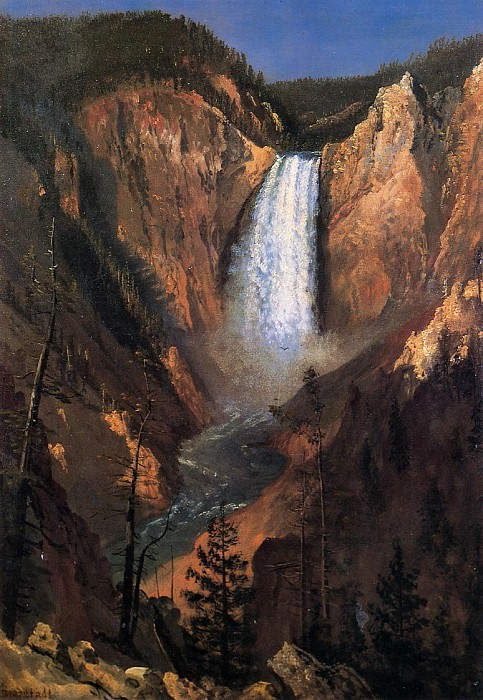 Lower Yellowstone Falls. Albert Bierstadt