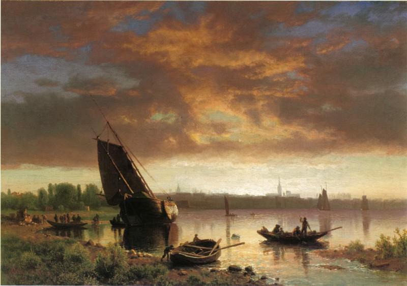 Сцена в гавани. Альберт Бирштадт