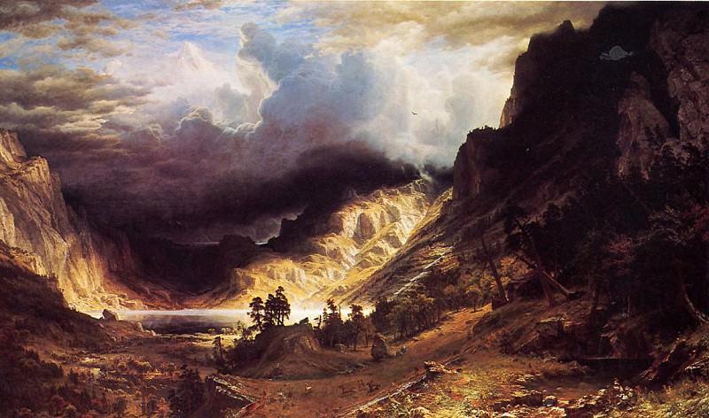 A Storm in the Rocky Mountains Mr. Rosalie. Albert Bierstadt