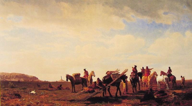 Indians Traveling near Fort Laramie. Albert Bierstadt