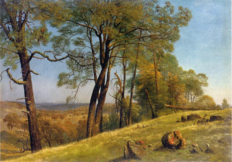 Landscape Rockland County California. Albert Bierstadt