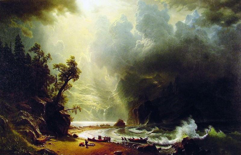 Pugest Sount on the Pacific Coast. Albert Bierstadt
