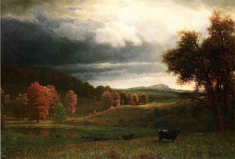 Осенний пейзаж в местечке Кэтскилс. Альберт Бирштадт