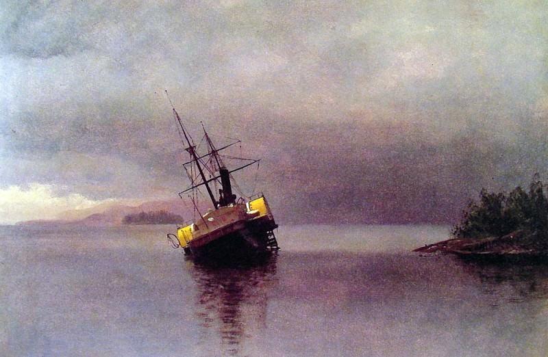 Крушение судна Анкона в заливе Лоринга. Альберт Бирштадт