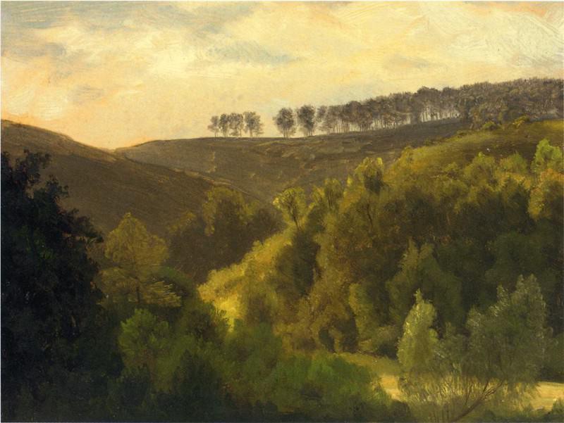 Восход над лесом и рощицей. Альберт Бирштадт