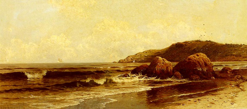 Breaking Surf. Alfred Thompson Bricher