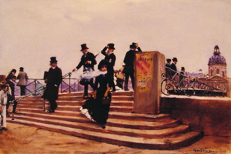 Pont des arts windy day. Jean Beraud