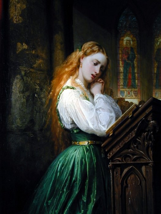 Margaritte in the Cathedral. Thomas Jones Barker
