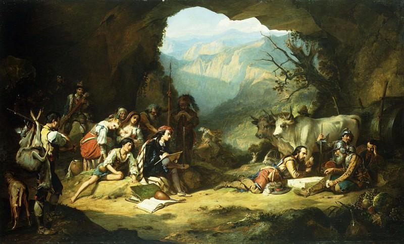 The Studio of Salvator Rosa in the Mountains of the Abruzzi. Thomas Jones Barker