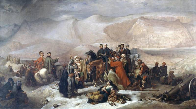 The Capitulation of Kars during the Crimean War on 28th November 1855. Thomas Jones Barker