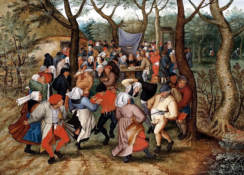Country wedding. Pieter Brueghel the Younger