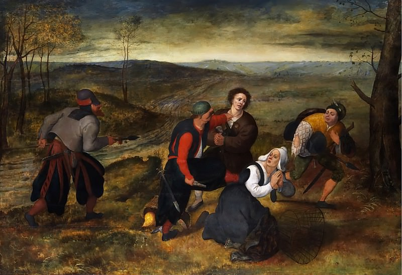 A Peasants Attacked By Robber. Pieter Brueghel the Younger