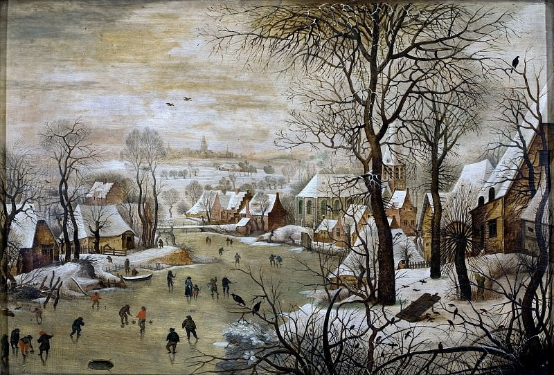 Winter Landscape with Bird Trap. Pieter Brueghel the Younger