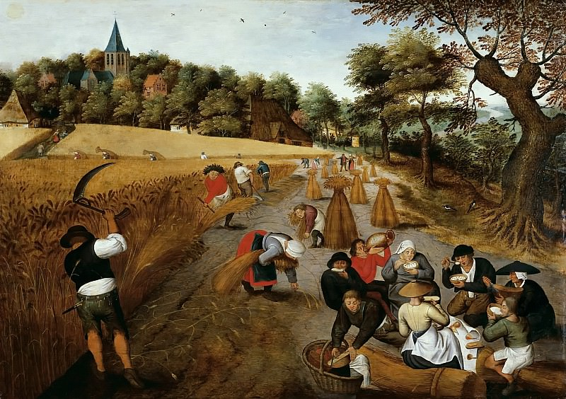The harvest. Pieter Brueghel the Younger