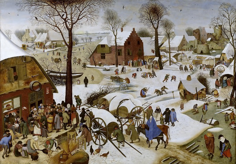 Census at Bethlehem. Pieter Brueghel the Younger