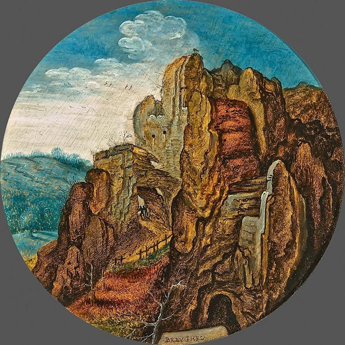 A Mountainous Landscape. Pieter Brueghel the Younger