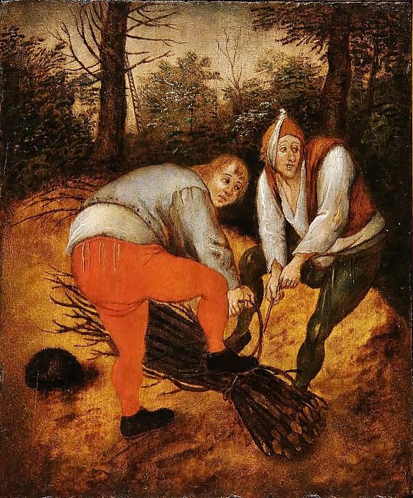 Firewood Collectors. Pieter Brueghel the Younger