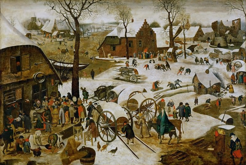 The census in Bethlehem. Pieter Brueghel the Younger