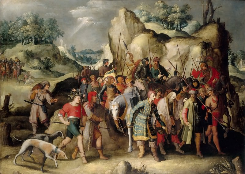 Saint Paul on the Road to Damascus after his Conversion. Pieter Brueghel the Younger