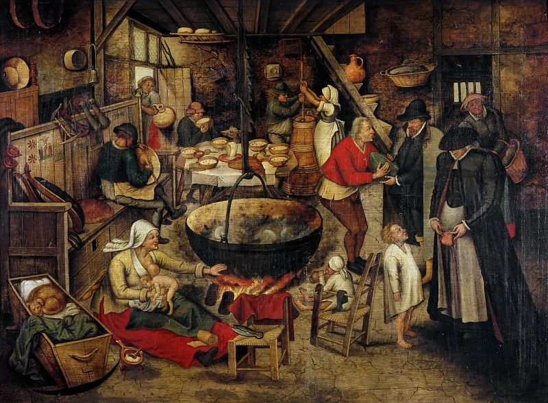 Visit to the Peasants. Pieter Brueghel the Younger