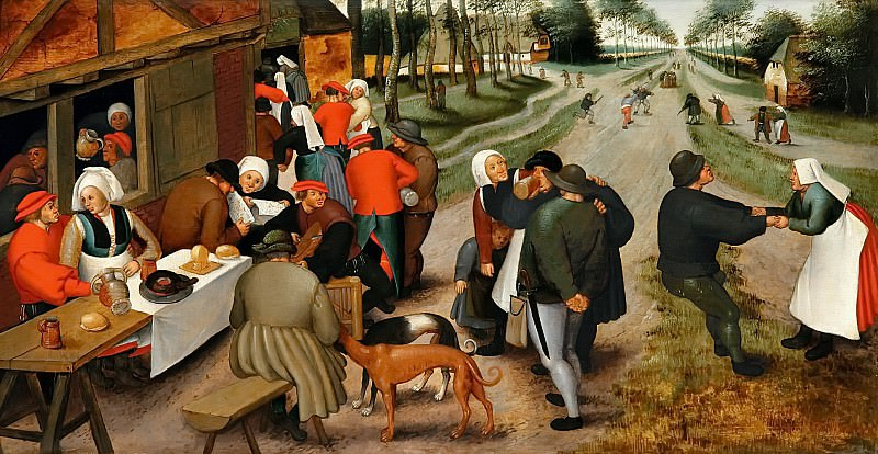 At the tavern. Pieter Brueghel the Younger