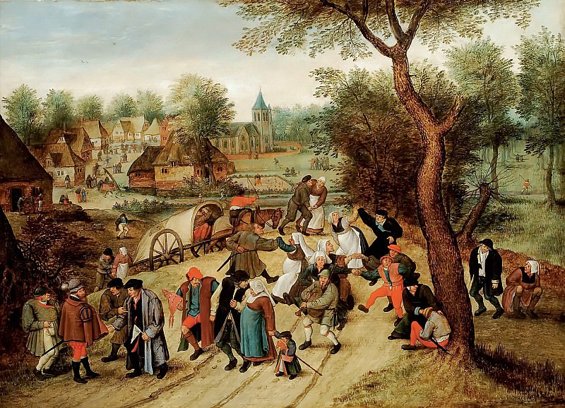Returning from holiday. Pieter Brueghel the Younger