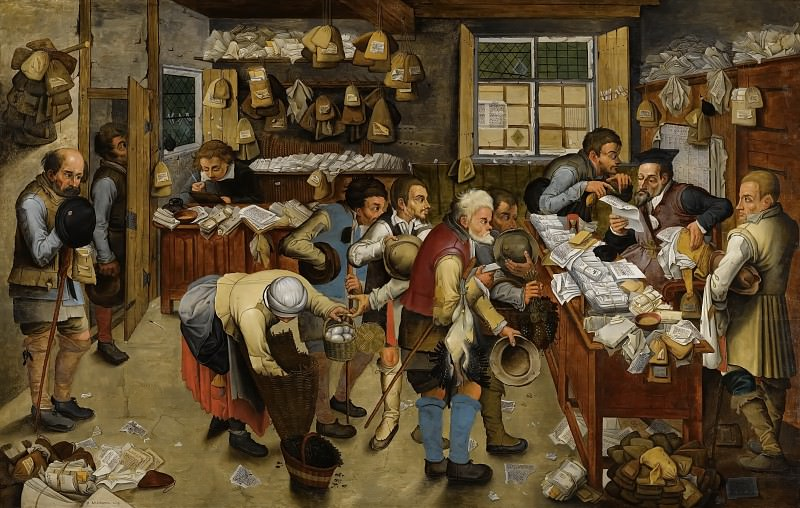 The Payment of the Tithe. Pieter Brueghel the Younger