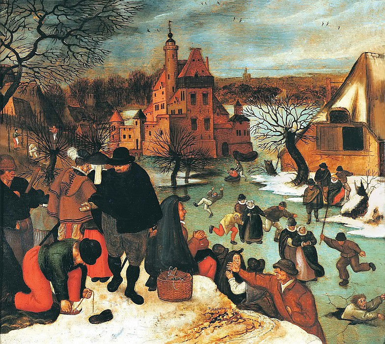 Winter, skating. Pieter Brueghel the Younger