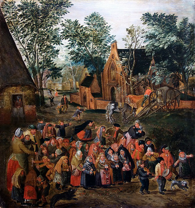 Whitsunday bride. Pieter Brueghel the Younger