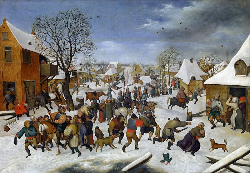 Мassacre of the innocents. Pieter Brueghel the Younger