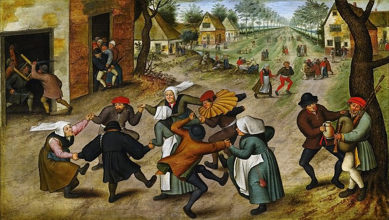 A Village Street with Peasants. Pieter Brueghel the Younger