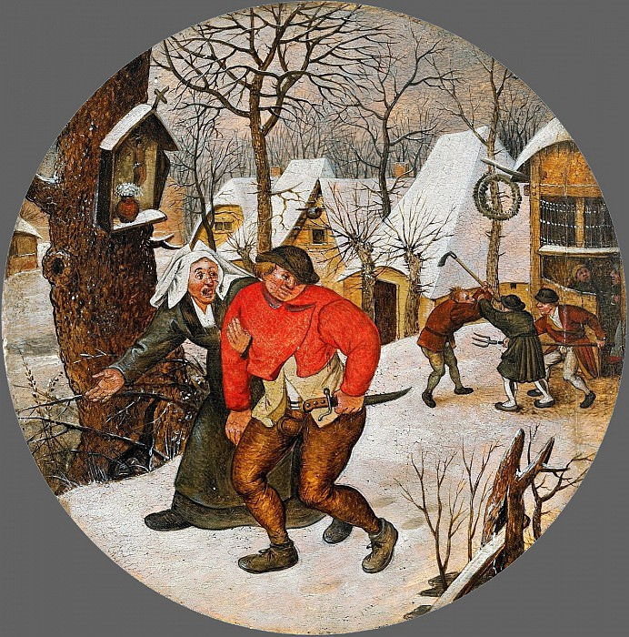 fight farmers. Pieter Brueghel the Younger