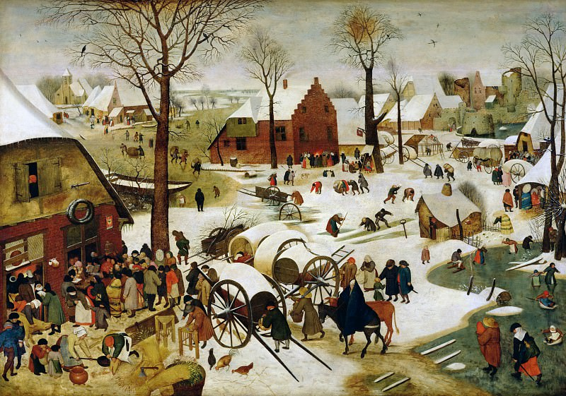 The Census at Bethlehem. Pieter Brueghel the Younger