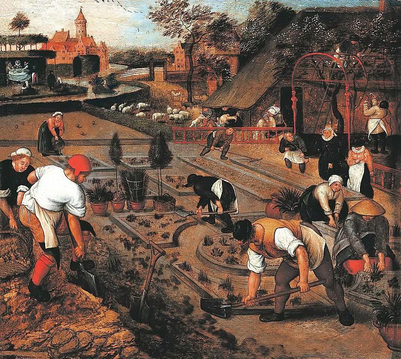 Spring, gardening. Pieter Brueghel the Younger