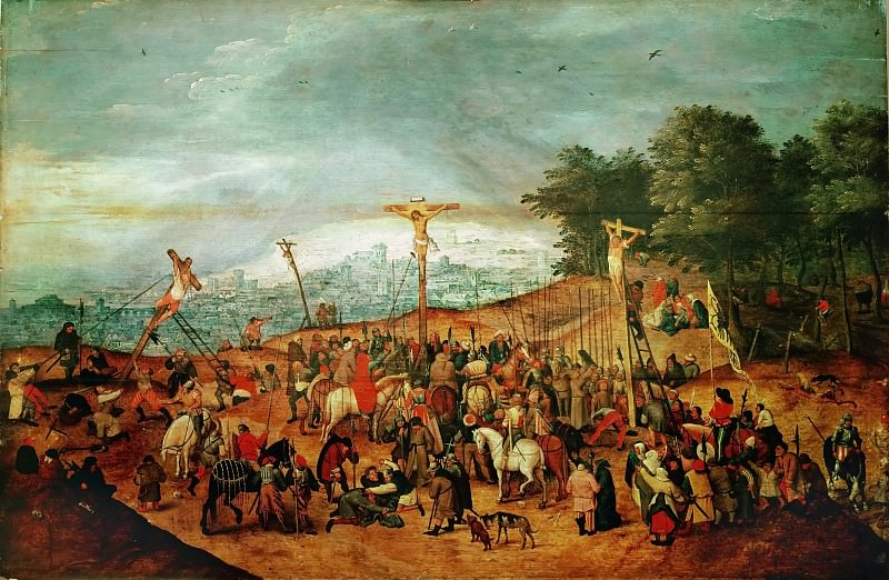 Calvary (Thought to be a free copy of a lost picture by the artist s father, Pieter Brueghel I). Pieter Brueghel the Younger