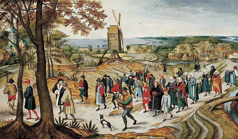 Wedding Procession. Pieter Brueghel the Younger