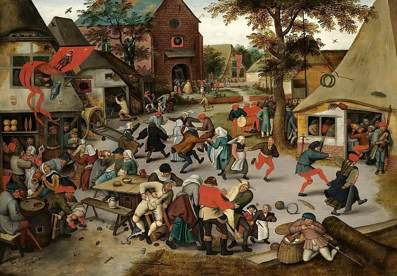 The Kermesse of Saint George. Pieter Brueghel the Younger