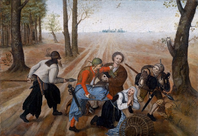 The robbery of the peasants. Pieter Brueghel the Younger