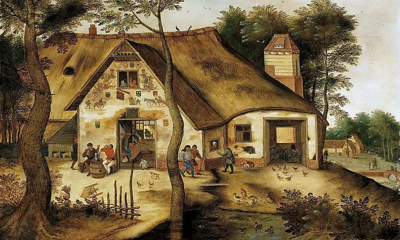 The Inn St. Michel. Pieter Brueghel the Younger