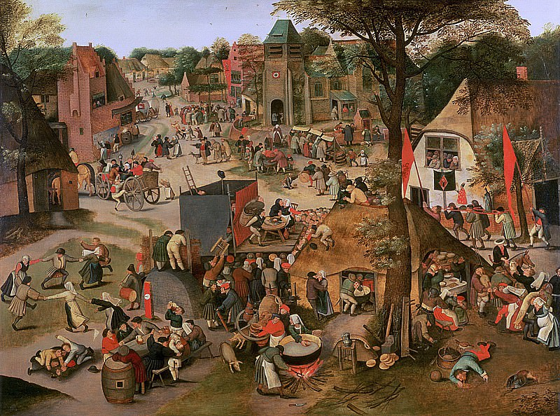 Village Festival in Honour of St. Hubert and St. Anthony. Pieter Brueghel the Younger