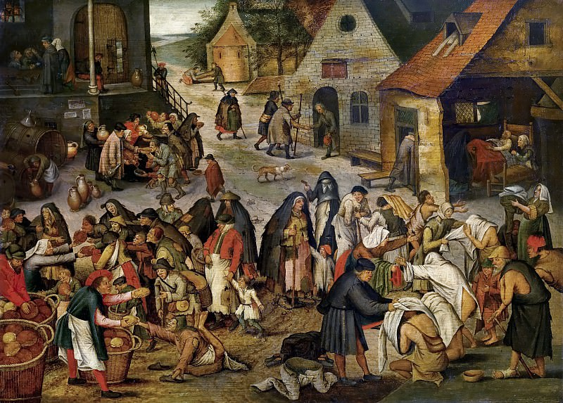 Works of mercy. Pieter Brueghel the Younger