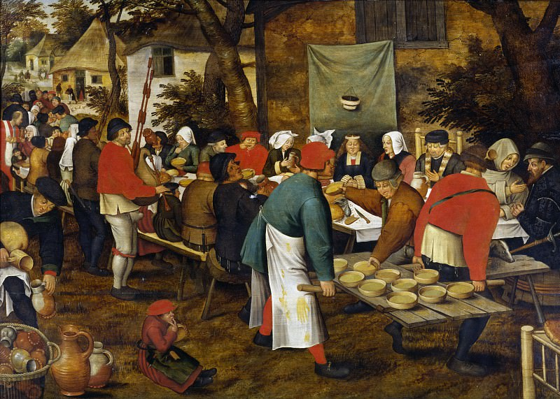 Peasant Wedding Feast. Pieter Brueghel the Younger
