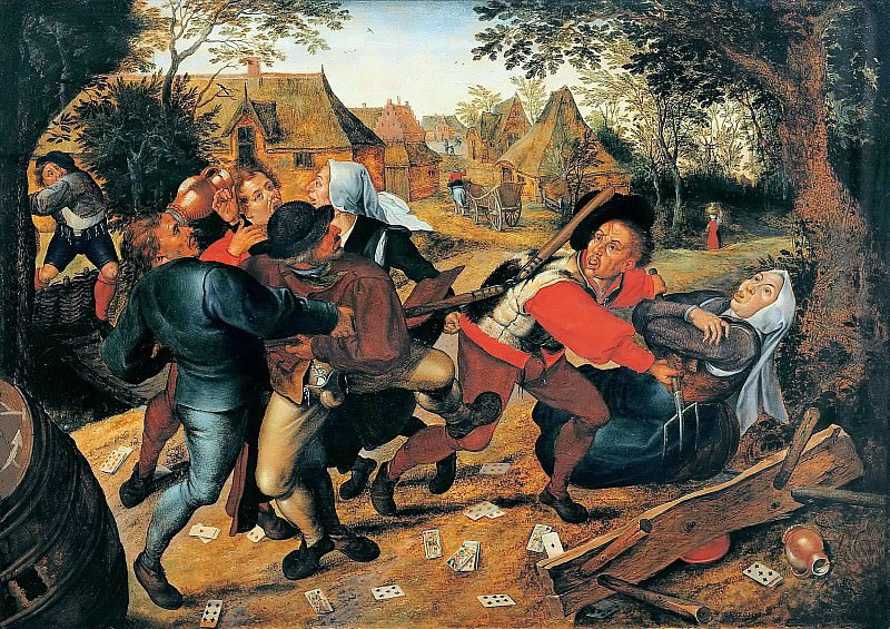 fight gamblers. Pieter Brueghel the Younger