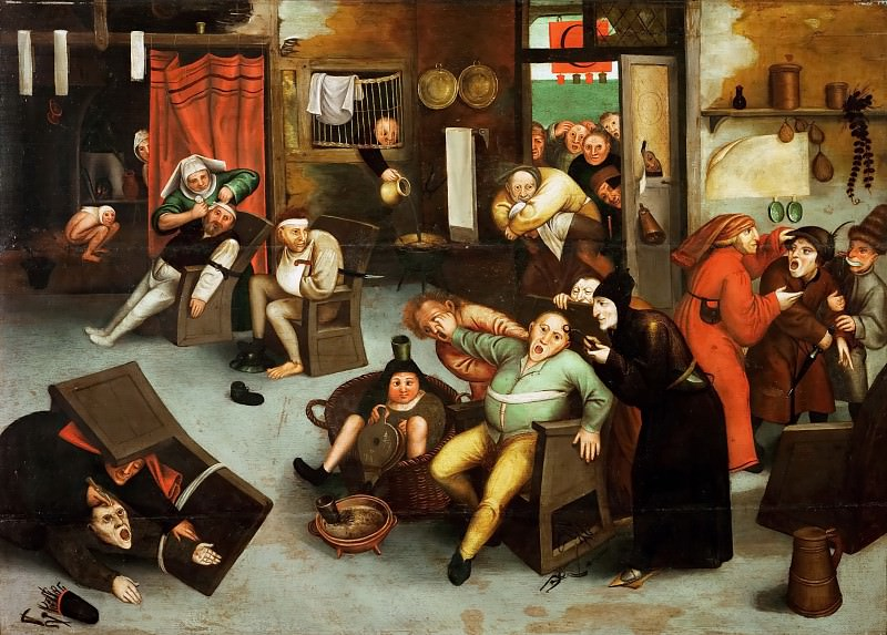 Operating the Fools Stone. Pieter Brueghel the Younger