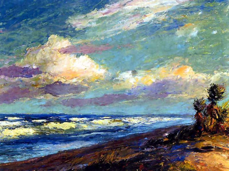 gentle breezes csg048 bayonets on the beach. Albert Ernest Backus