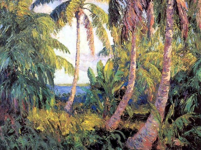 gentle breezes palm grove. Albert Ernest Backus