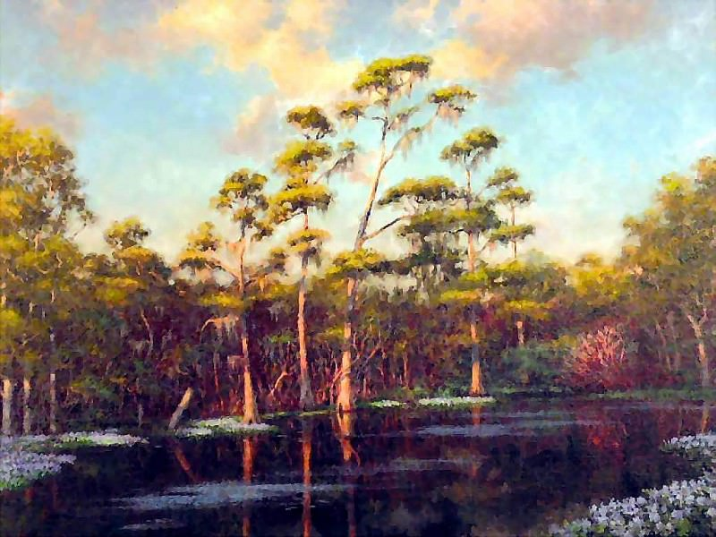 gentle breezes reedy creek. Albert Ernest Backus