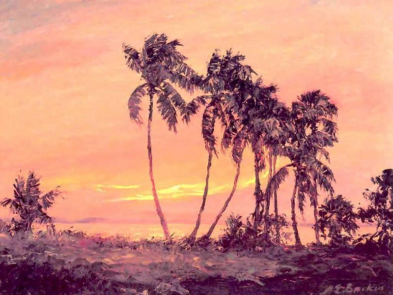 gentle breezes eastern shore of indian river. Albert Ernest Backus